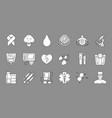 medical black symbols monochrome icons vector image