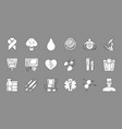 medical black symbols monochrome medical icons vector image vector image