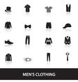 mens black clothing eps10 vector image vector image