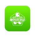 molecule connection icon green vector image vector image