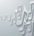 Music Notes on White Paper Background