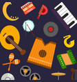musical instruments pattern orchestra vector image vector image