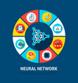 neural network concept icons vector image