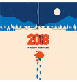 new year 2018 minimalistic vector image vector image