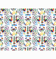 otomi style seamless pattern vector image vector image