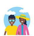 outdoor family vacations vector image