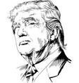 president of the united states of america vector image