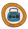 radio design vector image vector image