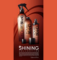 realistic cosmetic bottles poster vector image vector image