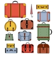 Retro travel bags vector image