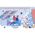 romantic young couple celebrate christmas holidays vector image