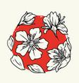 sakura flowers vintage monochrome concept vector image vector image