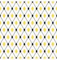 seamless geometric pattern with diamond rhombus vector image