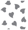seamless patterns with black hearts seamless vector image