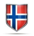 Shield with flag Norway vector image