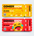 stand up comedy event show entry ticket template vector image vector image