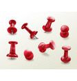 stationery office thumbtack push pins vector image