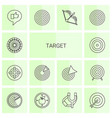 target icons vector image vector image