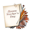 teacher s day card vector image vector image