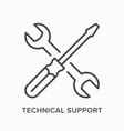 technical support line icon outline vector image
