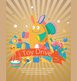 toy drive set for babies poster card vector image