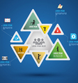 Triangle abstract paper infographics vector image vector image