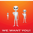 We want you poster vector image vector image