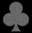 white pixelated clubs suit icon vector image vector image