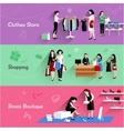 Woman Shopping Banner Set vector image vector image
