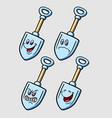 shovel cartoon character expression vector image