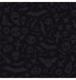 Halloween Symbols Seamless Pattern Dark vector image