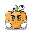 angry pumpkin character cartoon style vector image