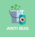 anti bug pesticides sprayer vector image