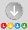 Arrow down Download Load Backup icon sign Symbol vector image