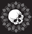 Bandana design with skull and paisley ornament