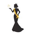 beauty queen silhouette vector image vector image