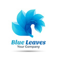 blue leaf logo design Template for your business vector image vector image