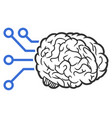 brain computer interface icon vector image
