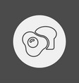 breakfast icon sign symbol vector image vector image