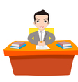 Businessman Working At Office vector image