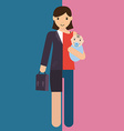 businesswoman and mother career and motherhood vector image vector image