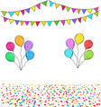 carnival garland with colorful flags confetti and vector image