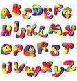 cartoon alphabet vector image vector image