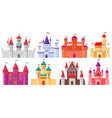 cartoon medieval castles fairytale medieval vector image
