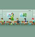 classroom teacher vector image vector image