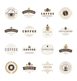 Coffee Shop Logos Badges and Labels Design vector image