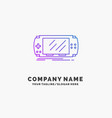 console device game gaming psp purple business vector image vector image