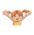 cute little girl character happy smiling image vector image