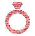 diamond ring fabric textured icon vector image vector image