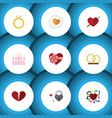 flat icon passion set of scrambled patisserie vector image vector image
